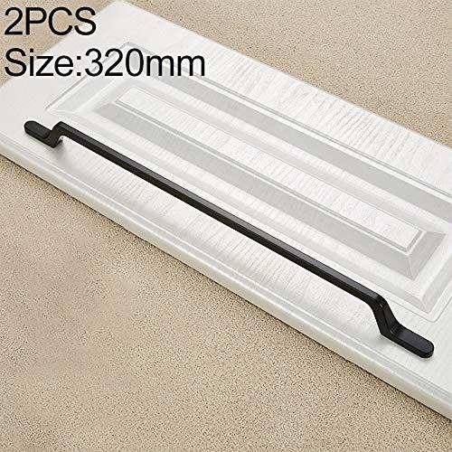 Liujingxue Meubilair Handvat, 2 PCS 9008_320 Eenvoudige Zwarte Ladekast Handvat, Kast Lade Slaapkamer meubelgrepen