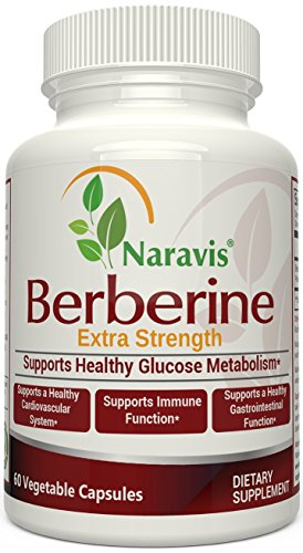 Berberine HCl Complex Supplement - 600mg per Capsule - Supports Healthy Blood Sugar & Insulin Metabolism - Helps Cardiovascular Gastrointestinal & Immune Systems