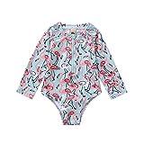 Borlai Niña Pequeña Traje de Baño Colorido Flamencos Bikini de Una Pieza Ropa de Playa Traje de Baño 1-6 Años