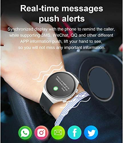 Reloj inteligente para hombres con pantalla IPS de 1,3 pulgadas, Bluetooth, llamada IP67, impermeable, con frecuencia cardíaca, para Android 4.4 + / iOS 8.0 +