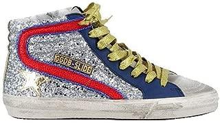 Golden Goose Slide Sneaker Silver/Gold/Red Women G34WS595.A12