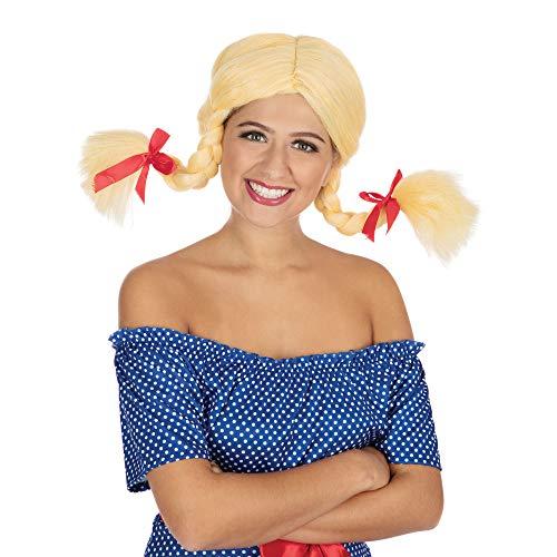 Blonde Pigtail Wig Sexy School Girl Bunches Britney Spears Fancy Dress (peluca)