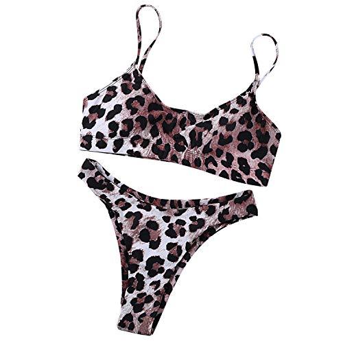 TSWRK Sexy Bikini Costume da Bagno al Mare Spiaggia Leopardo Stile Scelta Regalo Punsh Up Swimwear Due Pezzi