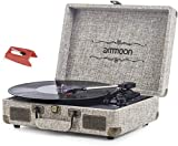 Best Vintage Record Players - Vinyl Record Player, ammoon 3 Speed Turntable Blue Review