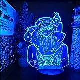 Lámpara de noche 3D Toilet-Bound Hanako Kun LED Anime Lamp 7 luces nocturnas que cambian de color Hanako Kun Lampara para para regalo de Navidad-Keine Fernbedienun