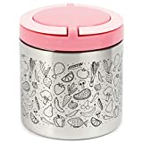 Insulated Lunch Container with Handles (22 oz, Pink)