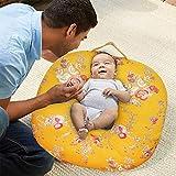 Oscar Home Newborn Baby's Cotton Fabric Helen Sandy Lounger (Yellow)