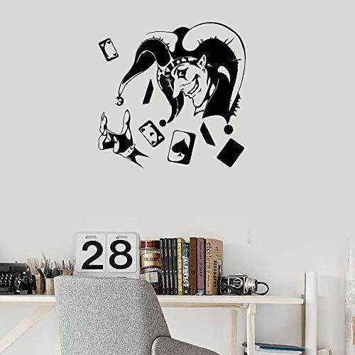 Tarjeta de póquer vinilo pared calcomanía jugador entretenimiento ocio Club decoración decoración pegatinas de pared cueva dormitorio decoración del hogar