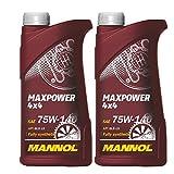 MANNOL 2 x 1L Maxpower 4x4 75W-140 API GL 5 / Limited Slip Schaltgetriebe- Achs -oel
