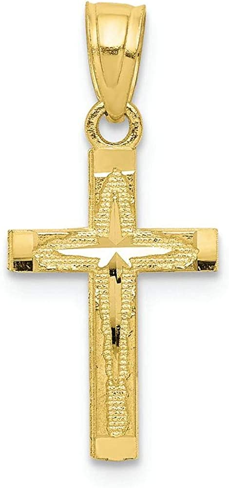 Finejewelers 10k Yellow Gold Cut Super sale Superior Bright Cross Charm