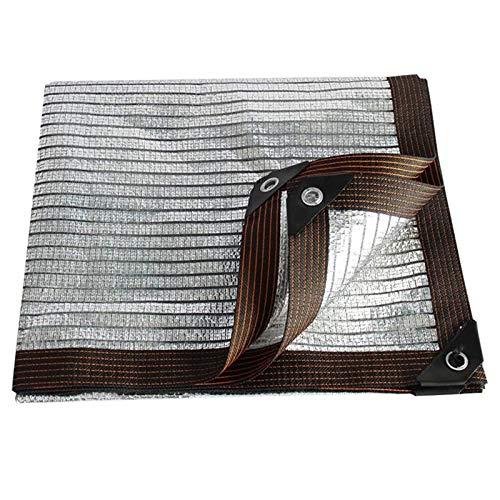 YTQ - Malla de aluminio para sombra (75% protección solar UV, reduce la temperatura, sala de sol, tela de aislamiento al aire libre, para planta, patio, jardín (tamaño: 2 m x 4 m)