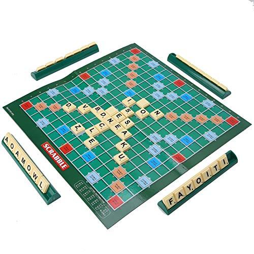 Juego de rompecabezas para niños, juego de ortografía de tablero de crucigramas en inglés para niños