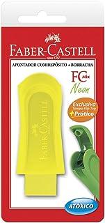 Apontador com Deposito e Borracha Fc Mix, Faber-Castell, SM/124BORSZF, Multicor