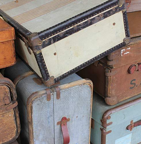 Tarjeta de felicitación vintage de maletas.