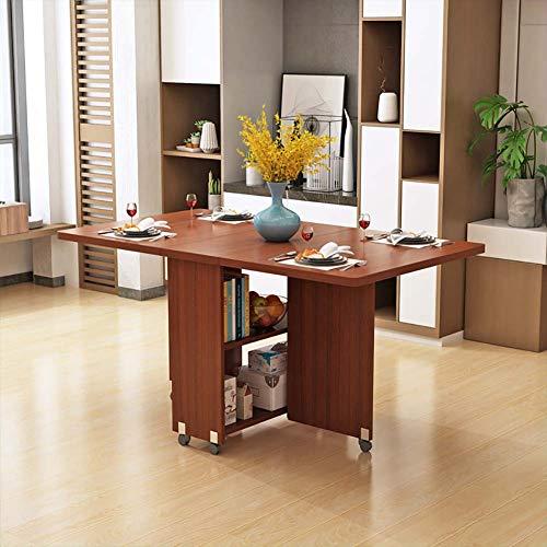 LRXGOODLUKE druppel blad vouwen eettafel, uitschuifbare salontafel mobiele bureau kleine voetafdruk zetels tot 6 personen