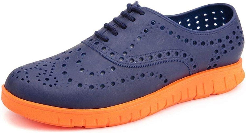 TXSCVBJN Men Sandals Summer Breathable Hole shoes Men Casual shoes Outdoor Men'S Garden shoes Flip Flops bluee