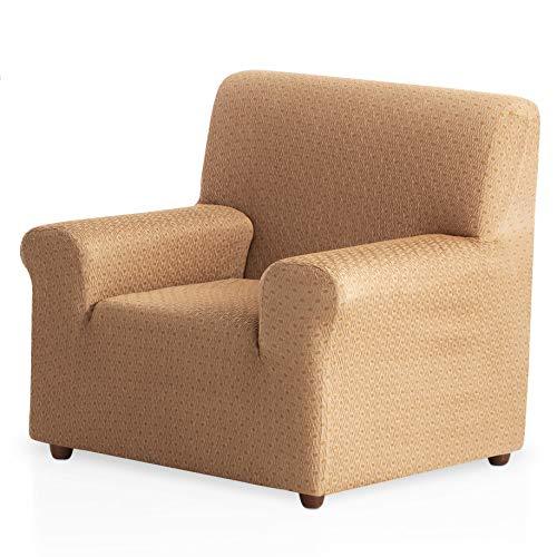 Bartali Funda de sillón elástica Olivia - Color Beige - Tamaño 1 Plaza (de 50 a 90 cm)