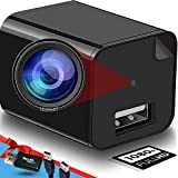 Camera Charger-Mini Camera 1080p-USB Charger Camera-Exquisite and Compact Camera-Full HD Surveillance Camera-with Dynamic Detection Function-Included with 32G Memory Card