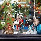 Adhesivo decorativo para pared con diseño de copo de nieve de Gaddrt Feliz Navidad