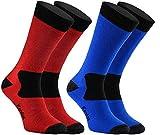 Rainbow Socks Pro - Hombre Mujer Antibacterianos Merina Kevlar Calcetines...