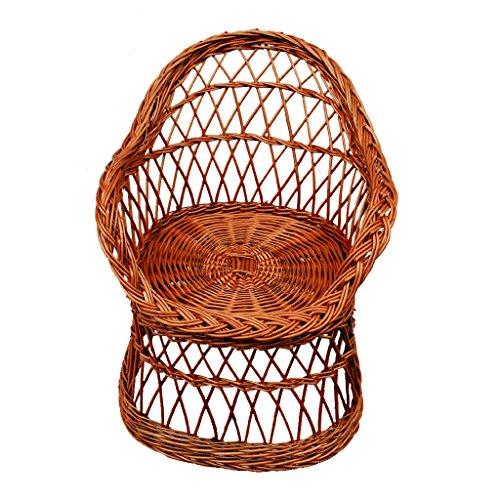 12-13 Korbsessel aus Weide geflochten / Sessel / Stuhl für Kinder / Puppenstuhl
