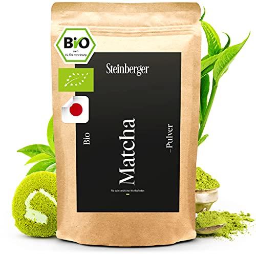 BIO Matcha Pulver Cooking-Qualität | Original japanisches Grüntee Matcha Pulver intensiver Geschmack | Grüner Tee 100g ideal zum Backen