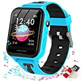 Jsbaby Smart Watch for Kids,Kids Smart Watch with Music Player,Pedometer,Math Games,SOS Call,Camera,Alarm,Recorder,Calculator,Mp3,for Birthday Gift Children Boys Girls (Blue)
