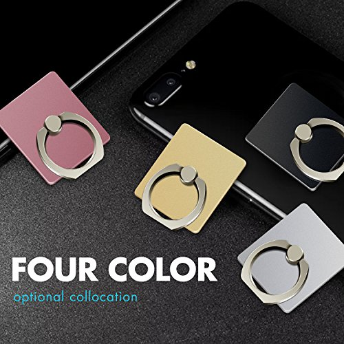 COOLOO Cell Phone Ring Holder Stand, 8 Pack 360 Degree Rotation Phone Grip Finger Ring Compatible iPhone X, 8, 7, 6s, Plus, Samsung Galaxy S6 S7, Note, LG, Google Pixel