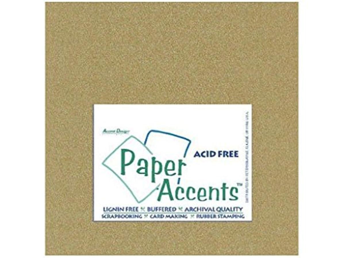 Accent Design Paper Accents PearlCardstock1212GoldLeaf Cdstk Pearlized 12x12 92# Gold Leaf