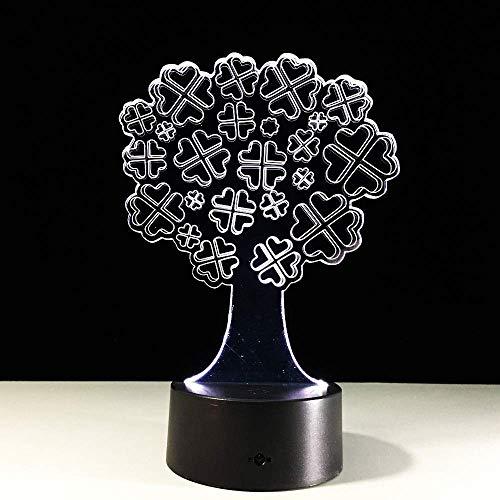 3D LED-lamp 7 kleuren Lucky Tree Touch LED USB tafel Lampara lamp LED nachtlampen voor kinderen baby slee nachtlamp projector