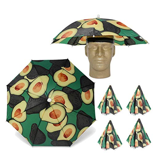 Funbrella Hats - PIZZA Umbrella Hat - The Pie In The Sky - Rain Sun Resistant -Easy Elastic Fit for Adults & Kids - Umbrella Hats for a Costume Party, Festival, Fishing, Hiking and the Beach
