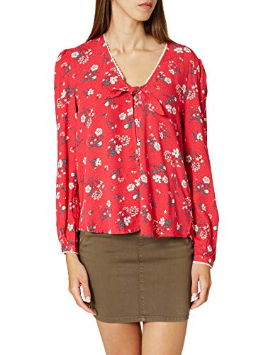 Springfield Blusa Escote Nudo Camisa, Naranja, 34 para Mujer
