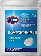 tabletas de cloro multifunción, tabletas de cloración de piscinas, químico para abrir piscinas, tabletas de limpieza de piscinas, desinfectante, estabilizador, algicida y clarificador (A,S)
