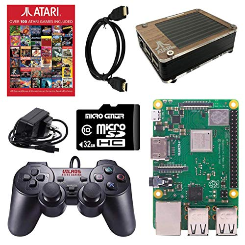 Atari Raspberry Pi 3 Model B+ Retro Arcade Gaming Kit with Pi 3B+, USB...