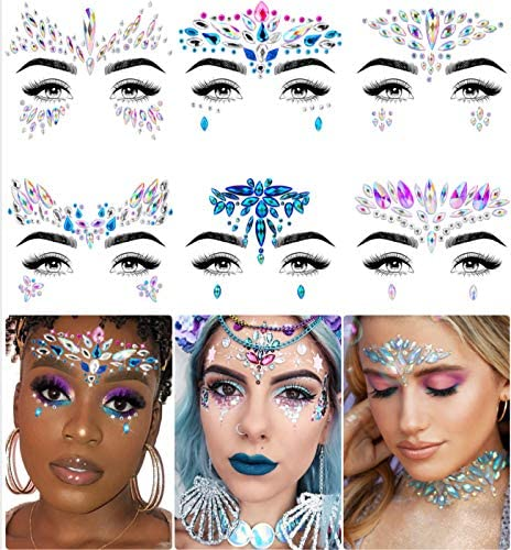 Face Jewels Face Gems by iMethod Mermaid Face Jewels Stick On Rave Accessories for Festival product image