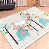IFOYO Baby Folding Play Mat, Non-Toxic and Comfortable Baby Crawling Mat, Portable Folding Floor Mat, Toddler Mat for Kids,79 x 59 x 0.4 inch,Forest C