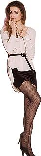 Gatta Fashion Patty 01-20den - modisch kariert gemusterte, transparente Feinstrumpfhose mit vielen kleinen Herzchen