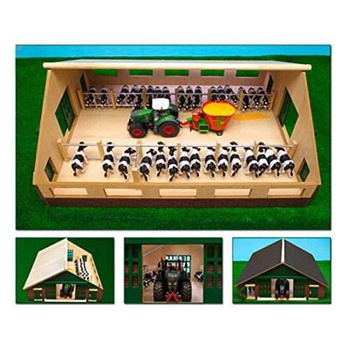 Van Manen 610540 Bauernhof Kuhstall aus Holz, 1:32, passend für Siku Fahrzeuge
