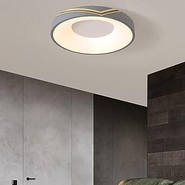 LIWENGZ Minimalist Iron Art LED Saving Plafonnier Plafonnier Tricolore Réglable Dimmable Moderne Mode Chambre Forme Ronde Sem