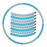 8 Sección Extraíble Portátil Hula Hoop Fitness Añadir Peso Libremente Hula Hoop Fitness para Adultos Principiantes,Entrenamiento Weighted Hula Hoop,Perder Peso Deportivo Hula Hoop-E 88cm(35inch)