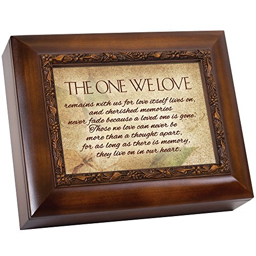 Cottage Garden Wood Finish Memorial Urn Box
