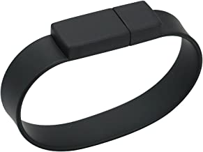 128GB USB 2.0 Flash Drive Silicone Black Bracelet Wristband Design Flash Drives Memory Stick Pendrive