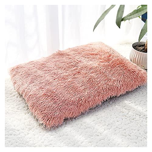 Musen Larga Peluche de Peluche Cojín de Mascotas Cojín Manta Soft Fleece Cojín Cojín Puppy Chihuahua Sofá Mat Pad Ajuste para Pequeños Perros Grandes MS (Color : Pink, Size : XL)
