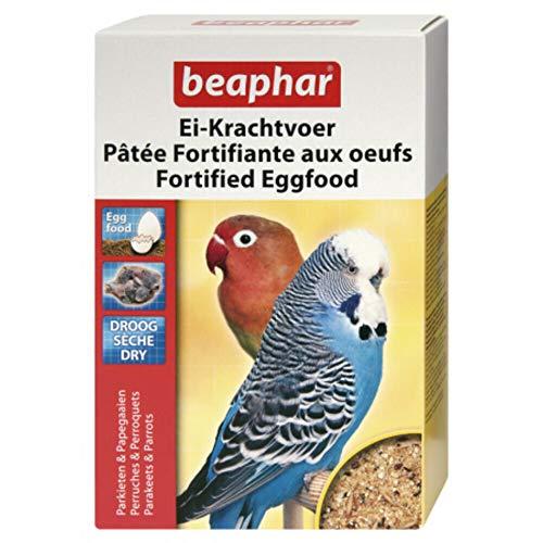 BEAPHAR – Pâtée fortifiante aux œufs pour perruche et perroquet – Contient des protéines animales et végétales, vitamines, minéraux – Idéal pour la reproduction, la croissance et la mue – 1kg
