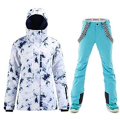 HOTIAN Ski Jacket Snowboard Jacket Womens High Windproof Colorful Snow Jacket Pants Set