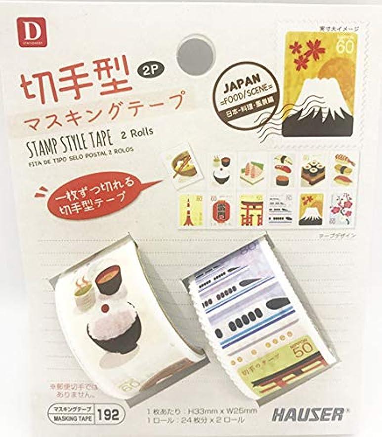 Stamp Style Masking Tape 2P(1 pac)