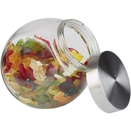APS Pot de Stockage récipient avec Une Boule Optique en Verre de qualité supérieure et Un Bouchon à vis en Acier Inoxydable - Protection Contre Les arômes grâce au Bouchon à vis de Haute qualité.