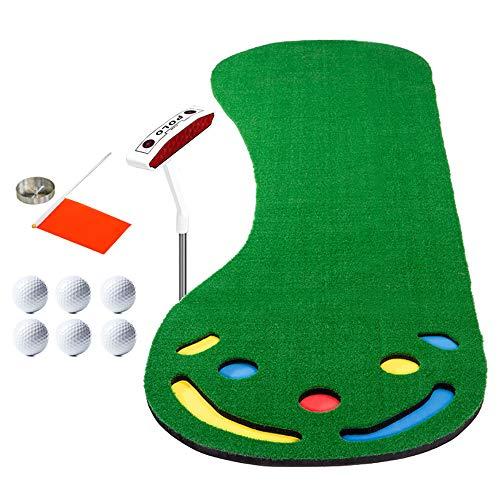 SSeir Binnen Golf Putting Mats slagblok met trefwoord en bal gras oefenmat draagbaar oefendeken voor volwassenen kind achtertuin buiten thuis kantoor