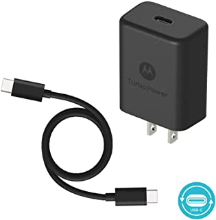 Motorola TurboPower 27 PD Charger w/ 1m (3.3ft) USB-C to C Cable for Moto Z/Z2/Z3/X4/G6/G6 Plus- Power Delivery (Retail Box)