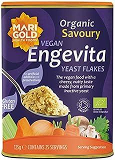 Marigold Engevita Copos de levadura nutricional orgánica, 125 g (paquete de 3)